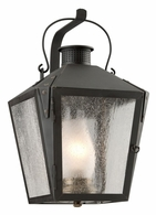 BF3762CI Troy Solid Brass Exterior Nantucket 1Lt Wall Lantern Flourescent Medium with Charred Iron Finish