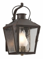 BF3762NR Troy Solid Brass Exterior Nantucket 1Lt Wall Lantern Flourescent Medium with Natural Rust Finish