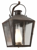 BF3763NR Troy Solid Brass Exterior Nantucket 1Lt Wall Lantern Flourescent Large with Natural Rust Finish