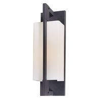 BF4016FI Troy Hand-Worked Iron Exterior Blade 1Lt Wall Bracket Flourescent Medium with Forged Iron Finish