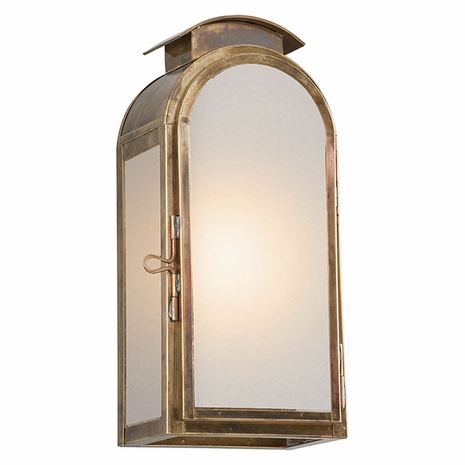 BF4401HBZ Troy Solid Brass Exterior Copley Square 1Lt Wall Small with Historic Brass Finish