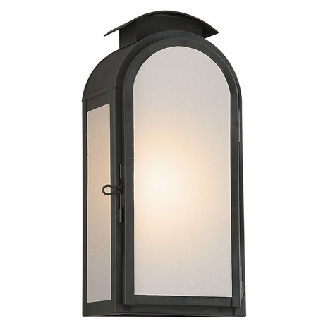BF4402CI Troy Solid Brass Exterior Copley Square 1Lt Wall Medium with Charred Iron Finish