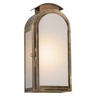 BF4402HBZ Troy Solid Brass Exterior Copley Square 1Lt Wall Medium with Historic Brass Finish