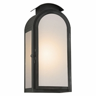 BF4403CI Troy Solid Brass Exterior Copley Square 1Lt Wall Large with Charred Iron Finish