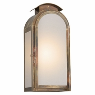 BF4403HBZ Troy Solid Brass Exterior Copley Square 1Lt Wall Large with Historic Brass Finish