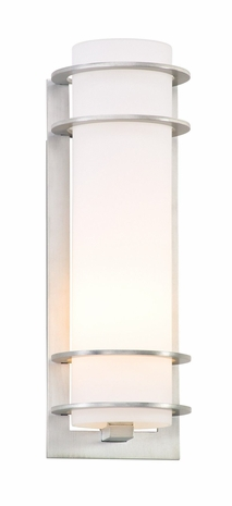 BF6062BA Troy Exterior Vibe ES Brushed Aluminum Tall 1 Light Fluorescent Wall Lantern