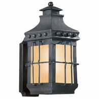 BF8970NB Troy Hand-Forged Iron Exterior Dover 1Lt Wall Lantern Fluorescent Small with Natural Bronze Finish