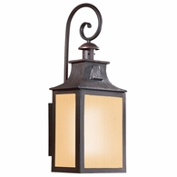 BF9005OBZ Troy Exterior Newton 1Lt Wall Lantern Large Fluorescent with Old Bronze Finish