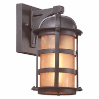 BF9250NB Troy Hand-Worked Iron Exterior Aspen 1Lt Wall Lantern Fluorescent Medium with Natural Bronze Finish