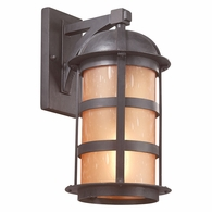 BF9253NB Troy Hand-Worked Iron Exterior Aspen 1Lt Wall Lantern Fluorescent Large with Natural Bronze Finish