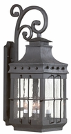 BFCD8974NB Troy Hand-Forged Iron Exterior Dover 1Lt Wall Lantern Fluorescent Large with Natural Bronze Finish