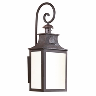 BFCD9005OBZ Troy Hand-Forged Iron Exterior Newton 1Lt Wall Lantern Fluorescent Large with Old Bronze Finish