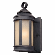 BL1460AI Troy Hand-Worked Iron Exterior Andersons Forge 1Lt Wall Lantern Small with Antique Iron Finish