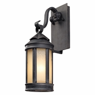 BL1461AI Troy Hand-Worked Iron Exterior Andersons Forge 1Lt Wall Lantern Small with Antique Iron Finish