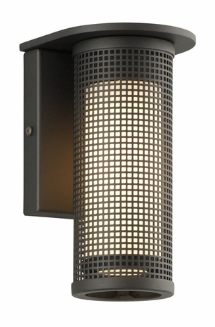 BL3741BZ Troy Solid Aluminum Exterior Hive 8W Led Wall Sconce Small with Bronze Finish