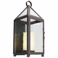 BL4473 Troy Solid Aluminum Exterior Hidden Hills 1Lt Wall Lantern Led Large with Centennial Rust Finish