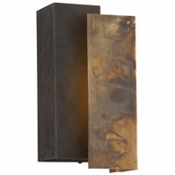 BL4651 Troy Exterior Archetype 1Lt Wall Small with Historic Brass w/Charred Bronze Finish