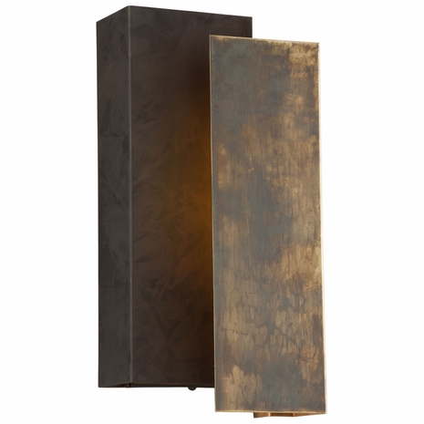BL4652 Troy Exterior Archetype 1Lt Wall Medium with Historic Brass w/Charred Bronze Finish
