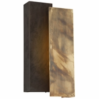 BL4653 Troy Exterior Archetype 1Lt Wall Large with Historic Brass w/Charred Bronze Finish