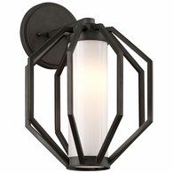 BL4982 Troy Hand-Worked Iron Exterior Boundary 1Lt Wall Lantern Medium with Textured Graphite Finish