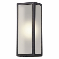 BL5102 Troy Solid Aluminum Exterior Dixon 1Lt Wall Lantern Led Medium with Vintage Bronze Finish