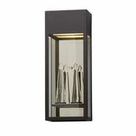 BL5113 Troy Solid Aluminum Exterior Trousdale 1Lt Wall Lantern Led Large with Bronze Finish