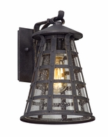 BL5161 Troy Solid Aluminum Exterior Benjamin 1Lt Wall Lantern Led Small with Vintage Iron Finish