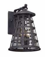 BL5162 Troy Solid Aluminum Exterior Benjamin 1Lt Wall Lantern Led Medium with Vintage Iron Finish