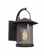 BL5171 Troy Hand-Worked Iron Exterior Altamont 1Lt Wall Lantern Led Small with French Iron Finish