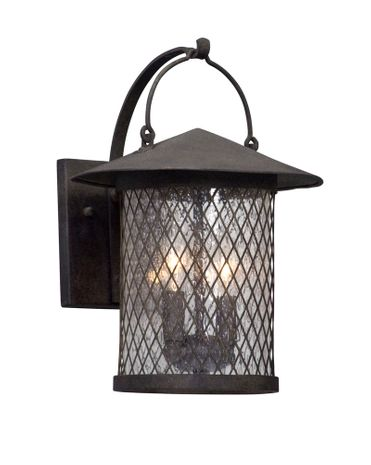 BL5172 Troy Hand-Worked Iron Exterior Altamont 1Lt Wall Lantern Led Medium with French Iron Finish