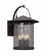 BL5173 Troy Hand-Worked Iron Exterior Altamont 1Lt Wall Lantern Led Large with French Iron Finish