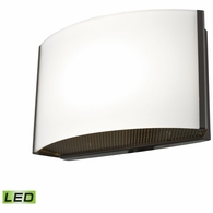 BVL911-10-45 ELK Lighting Pandora 1-Light Vanity Sconce in Oiled Bronze with Opal Glass - Integrated LED