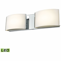 BVL912-10-15 ELK Lighting Pandora 2-Light Vanity Sconce in Chrome with Opal Glass - Integrated LED