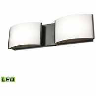 BVL912-10-45 ELK Lighting Pandora 2-Light Vanity Sconce in Oiled Bronze with Opal Glass - Integrated LED