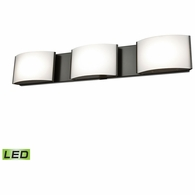 BVL913-10-45 ELK Lighting Pandora 3-Light Vanity Sconce in Oiled Bronze with Opal Glass - Integrated LED
