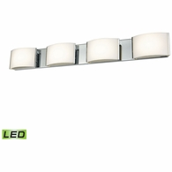 BVL914-10-15 ELK Lighting Pandora 4-Light Vanity Sconce in Chrome with Opal Glass - Integrated LED