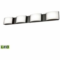 BVL914-10-45 ELK Lighting Pandora 4-Light Vanity Sconce in Oiled Bronze with Opal Glass - Integrated LED