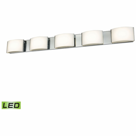 BVL915-10-15 ELK Lighting Pandora 5-Light Vanity Sconce in Chrome with Opal Glass - Integrated LED