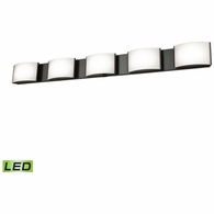 BVL915-10-45 ELK Lighting Pandora 5-Light Vanity Sconce in Oiled Bronze with Opal Glass - Integrated LED