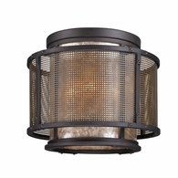 C3100 Troy Hand-Worked Iron Interior Copper Mountain 4Lt Ceiling Flush with Copper Mountain Bronze Finish