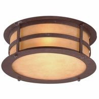 C9251NB Troy Hand-Worked Iron Exterior Aspen 2Lt Flush with Natural Bronze Finish