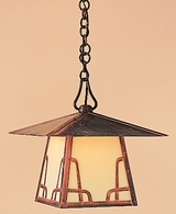 """CH-12 Arroyo Craftsman 12"""" Carmel Pendant With Bungalow Overlay"""