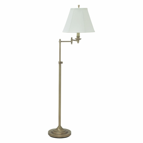 CL200-AB House of Troy Club Adjustable Antique Brass Floor Lamp