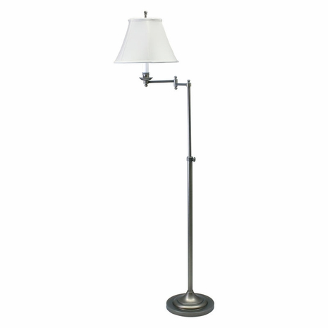 CL200-AS House of Troy Club Adjustable Antique Silver Floor Lamp