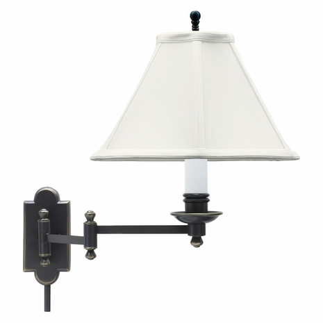 CL225-OB House of Troy Club Oil Rubbed Bronze Wall Swing Arm Lamp