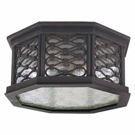 CL2370OI Troy Hand-Worked Iron Exterior Los Olivos 1Lt Ceiling Flush Led Flush with Old Iron Finish