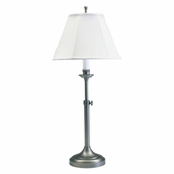 CL250-AS House of Troy Club Adjustable Antique Silver Table Lamp