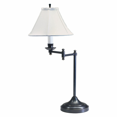 """CL251-OB House of Troy Club 25"""" Oil Rubbed Bronze Table Lamp with swing arm"""