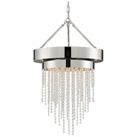 CLA-A3205-PN-CL-MWP Crystorama Clarksen 5 Light Polished Nickel Chandelier