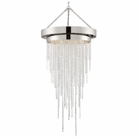 CLA-A3207-PN-CL-MWP Crystorama Clarksen 6 Light Polished Nickel Chandelier
